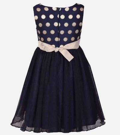 Navy Polka Dot Party Dress, Plus Size Dresses for Girls, Girls Plus Size Dresses