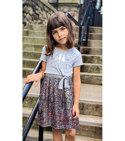 Little girls better together sequin dress
