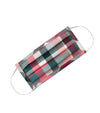 Burgundy Plaid Face Covering