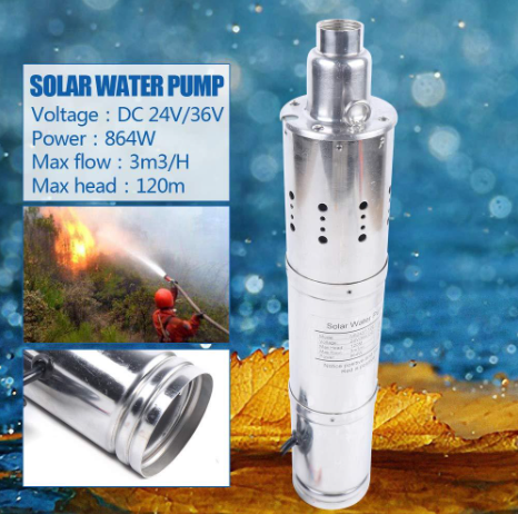24V 120M Deep Well Solar Submersible Water Pump