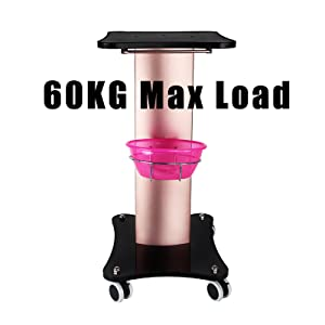 Salon Tray Max Load 60kg Salon Table Trolley Stand Rolling  Spa Cart