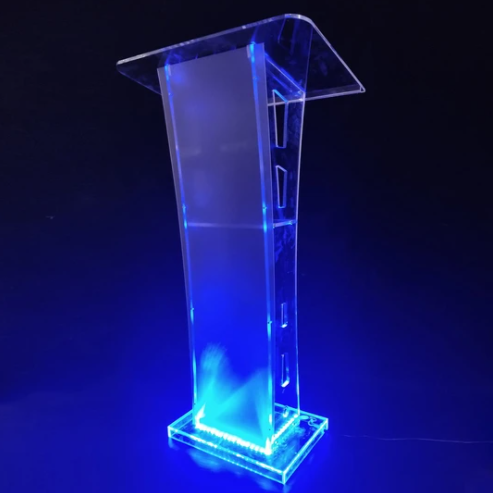 Lectern Church Pulpit with LED Light & Remote Control Durable Lectern
