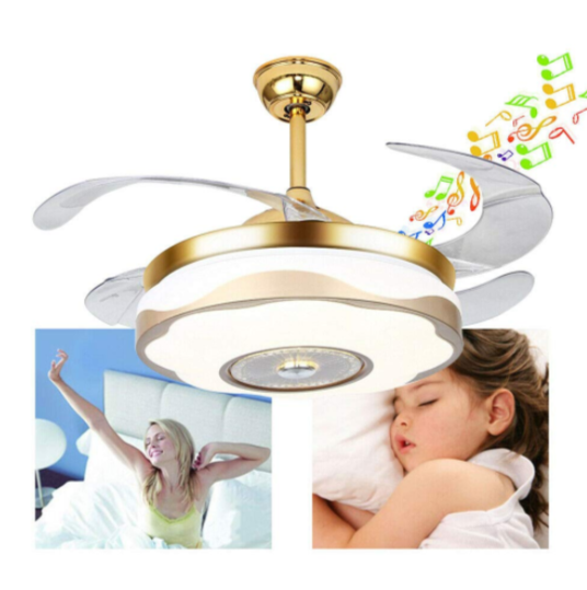 42'' Modern Ceiling Fans with Light Smart Bluetooth Music Player Chandelier
