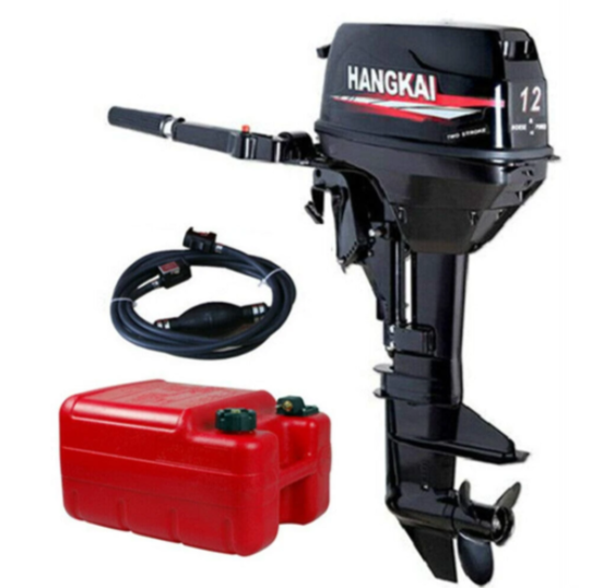 CNCEST 12HP 2Stroke Heavy Duty Outboard Motor Boat Engine  169CC Water Cooled Fishing Boat Engine
