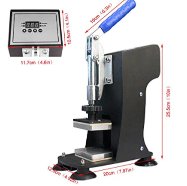 """CNCEST 2""""x3"""" Heat Press Machine,110V 500-600W Hot Press Stamping Machine, Double Heating Plate LCD Touch Control"""