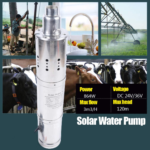 3m3/H Deep Well Solar Submersible Water Pump (NS243T-120-24-864)