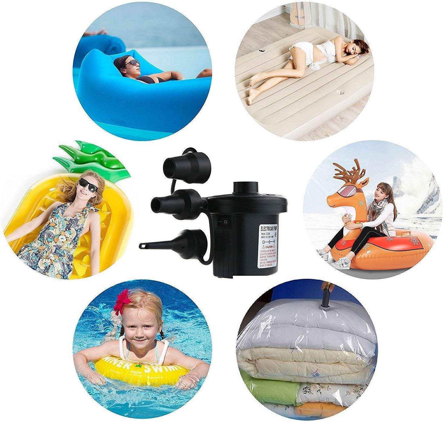 110V Electric Inflatable Pump Quick-Fill Inflator