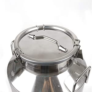 Stainless Steel Milk Can Wine Pail Bucket Tote Jug for Heavy Restaurant Use