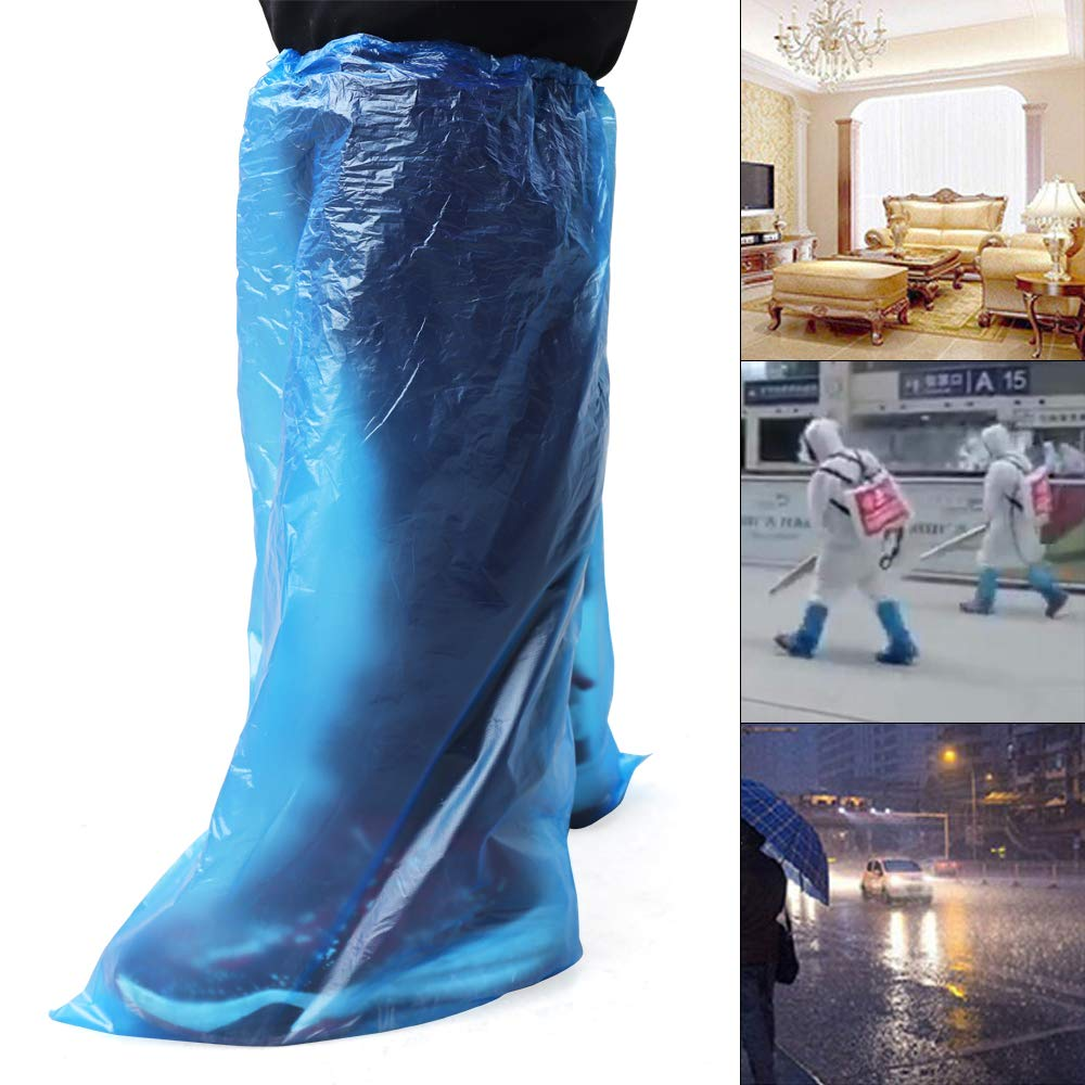 100pcs Disposable Waterproof Boots Covers