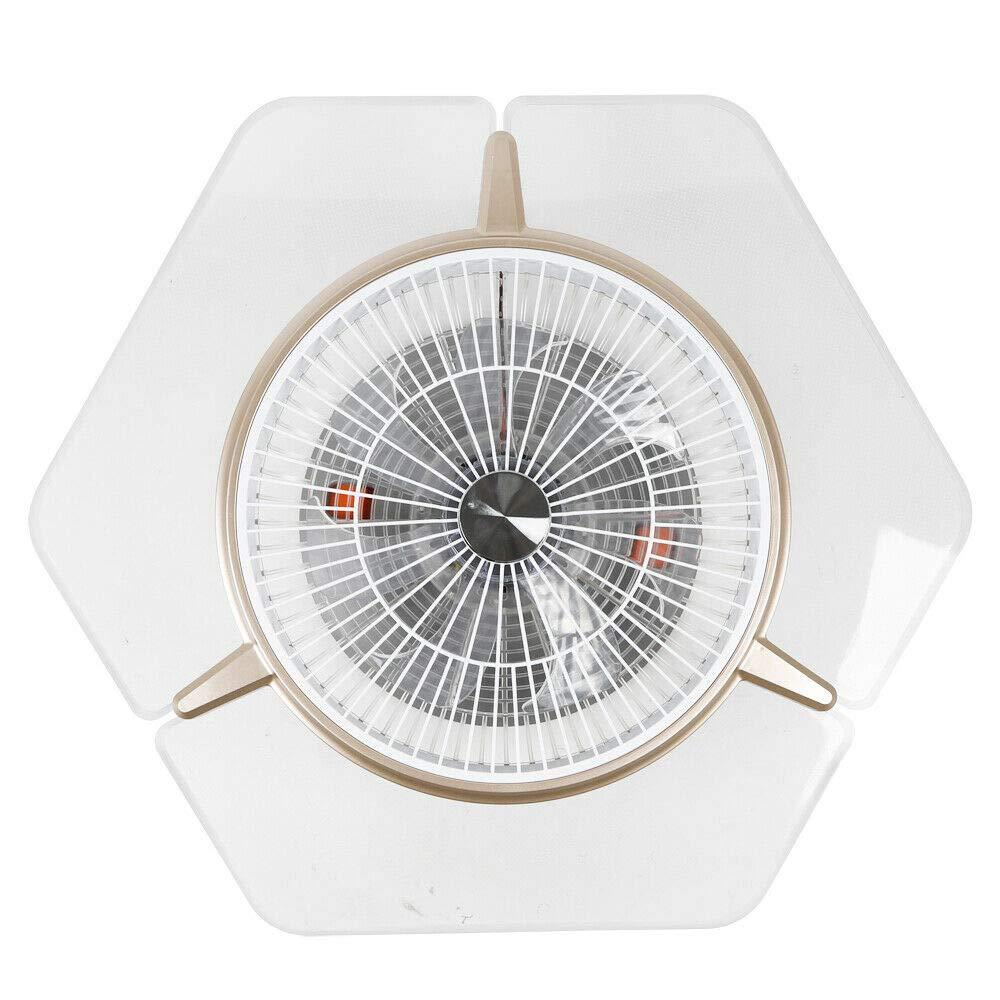 Modern LED Ceiling Fan Invisible Dimmable Bladeless 3 Colors Fan Chandelier