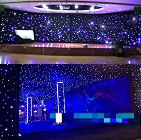 LED Backdrop Stage Star Backdrop Wedding Party Curtain Backdrops 8CH for Wedding Party Bedroom Christmas