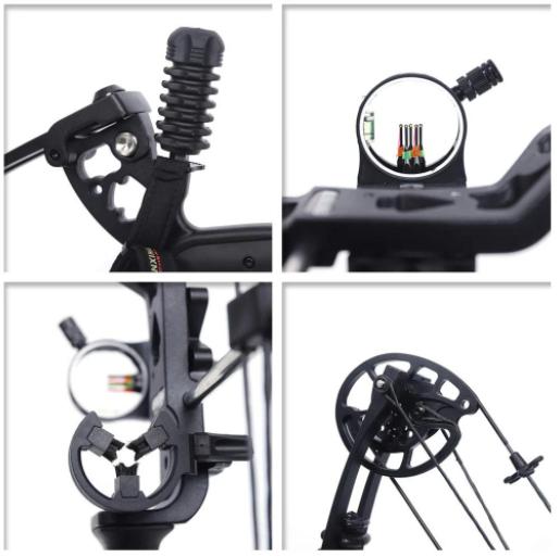 Professional Compound Bow Archery with 12pcs Arrow Shock Absorption
