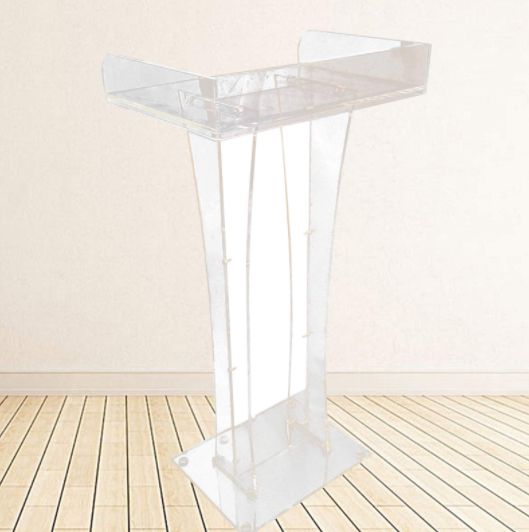 Podium Lectern Conference Pulpit Acrylic Stand Up Podium