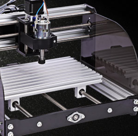 Engraving Machine - Black 3018-pro with Laser Head 5500mw with Touch Screen