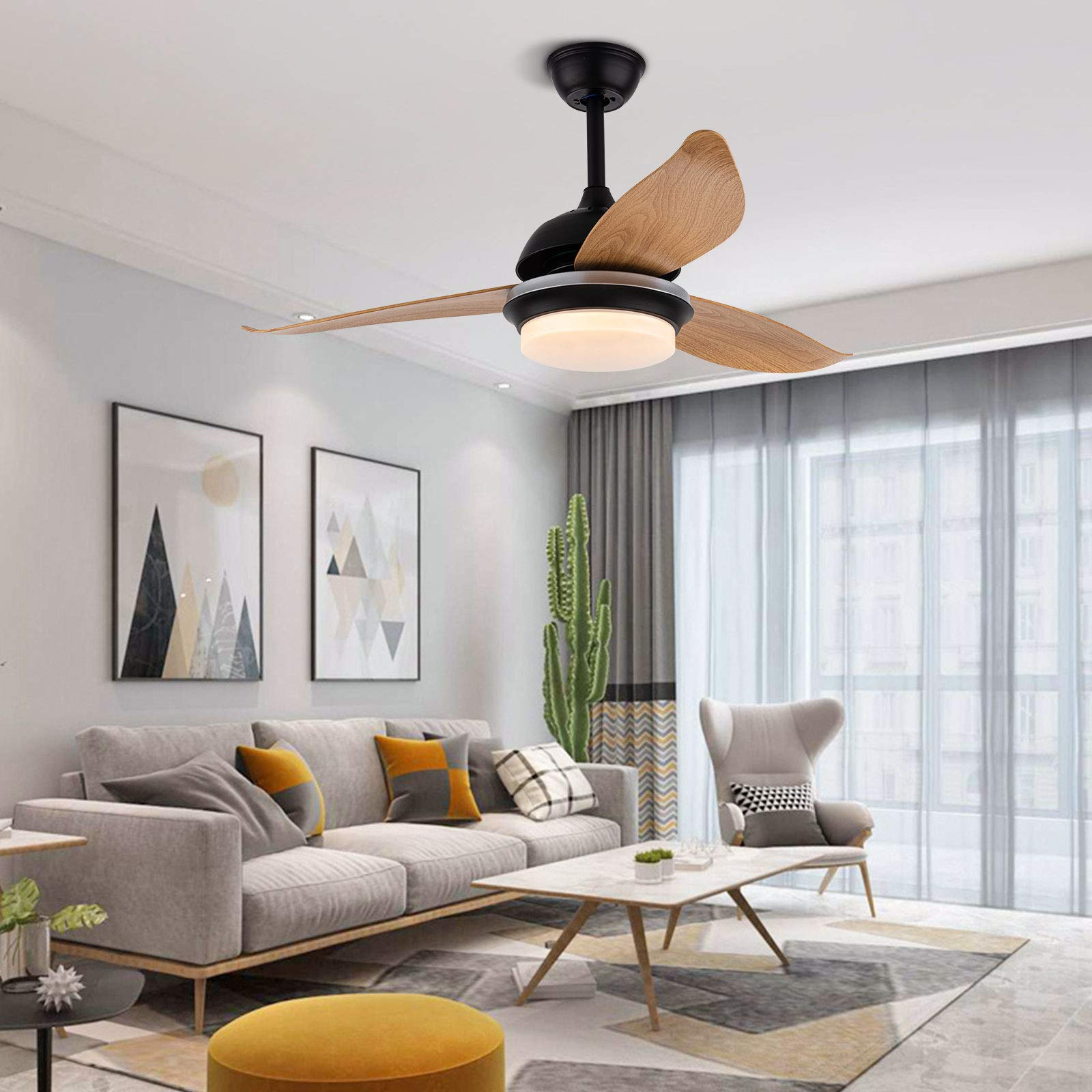 48 Inch Fan Chandelier with Remote Control