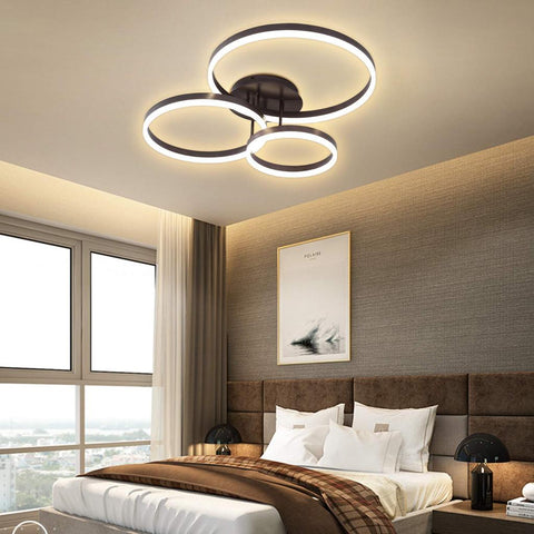 Three-head Brushed Ceiling Lamp - Stepless Dimming