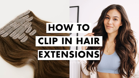 .Clip-in Hair Extensions