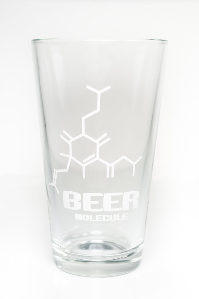 Beer Molecule Pint Glass