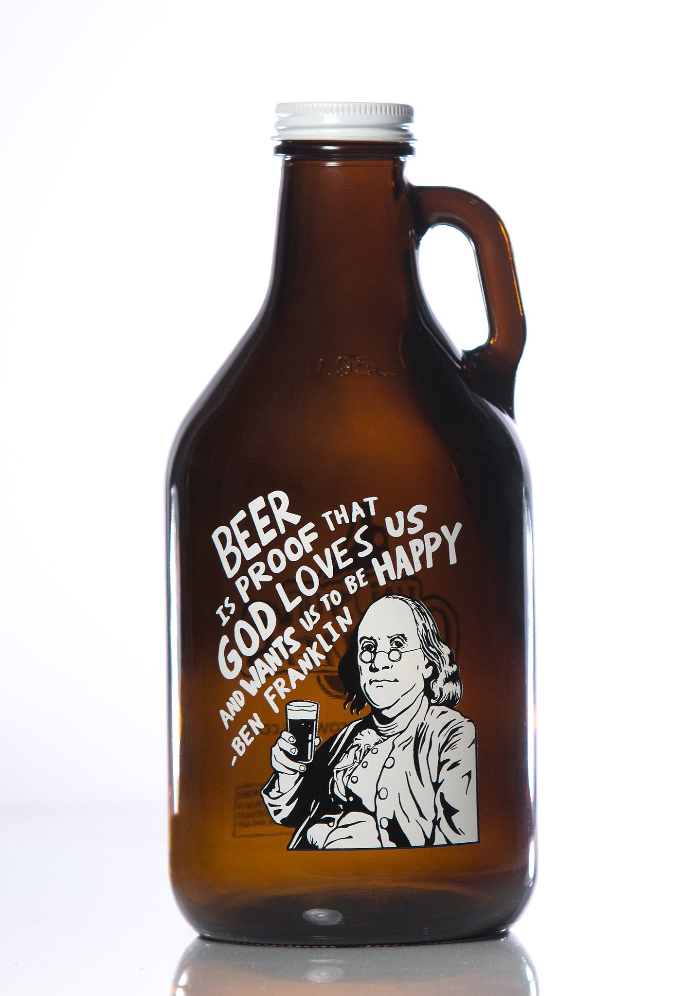 32 oz. Benjamin Franklin Growler - Haüs Of Growlers - 1