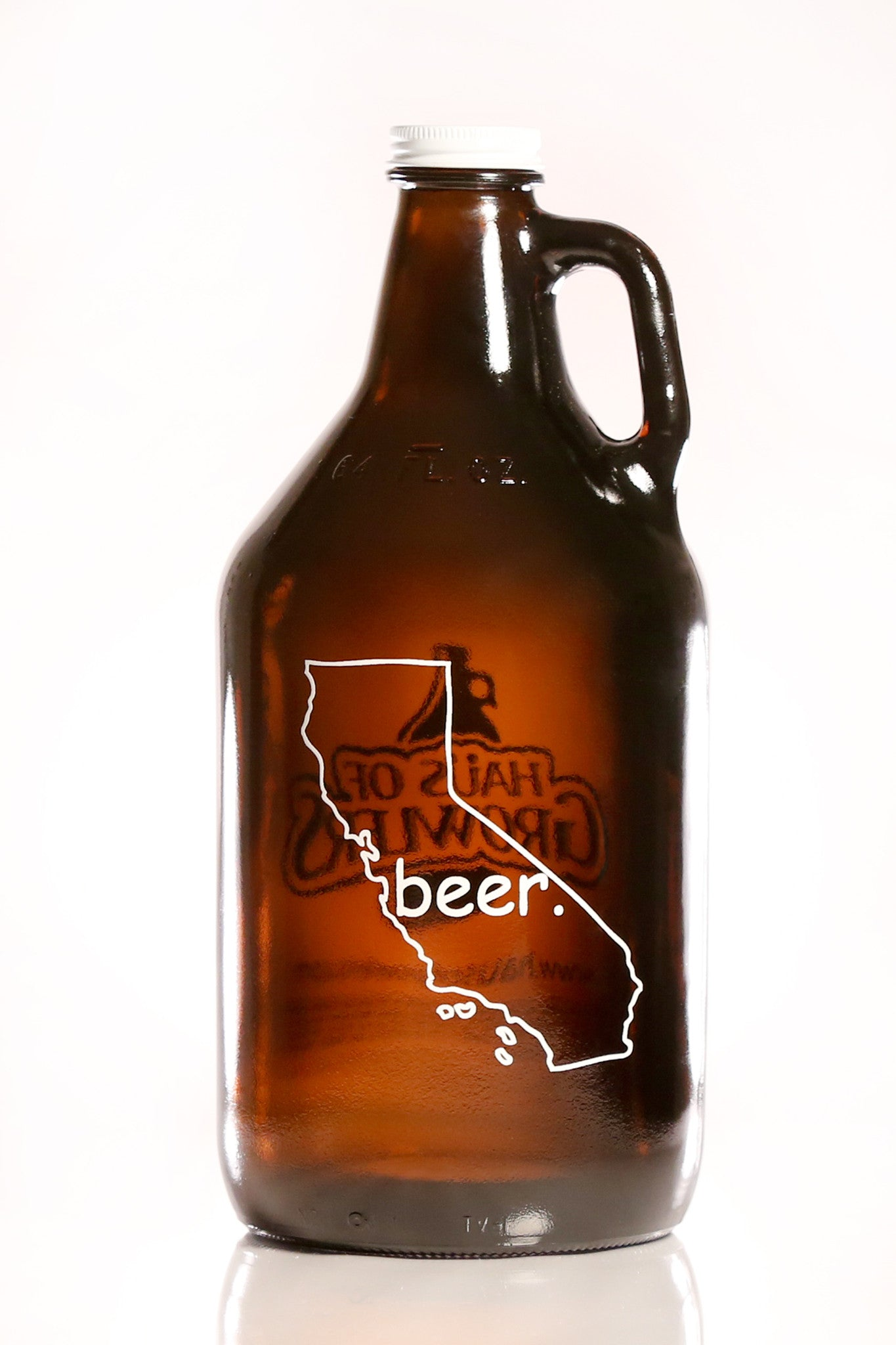 64 oz. California Beer Growler - Haüs Of Growlers