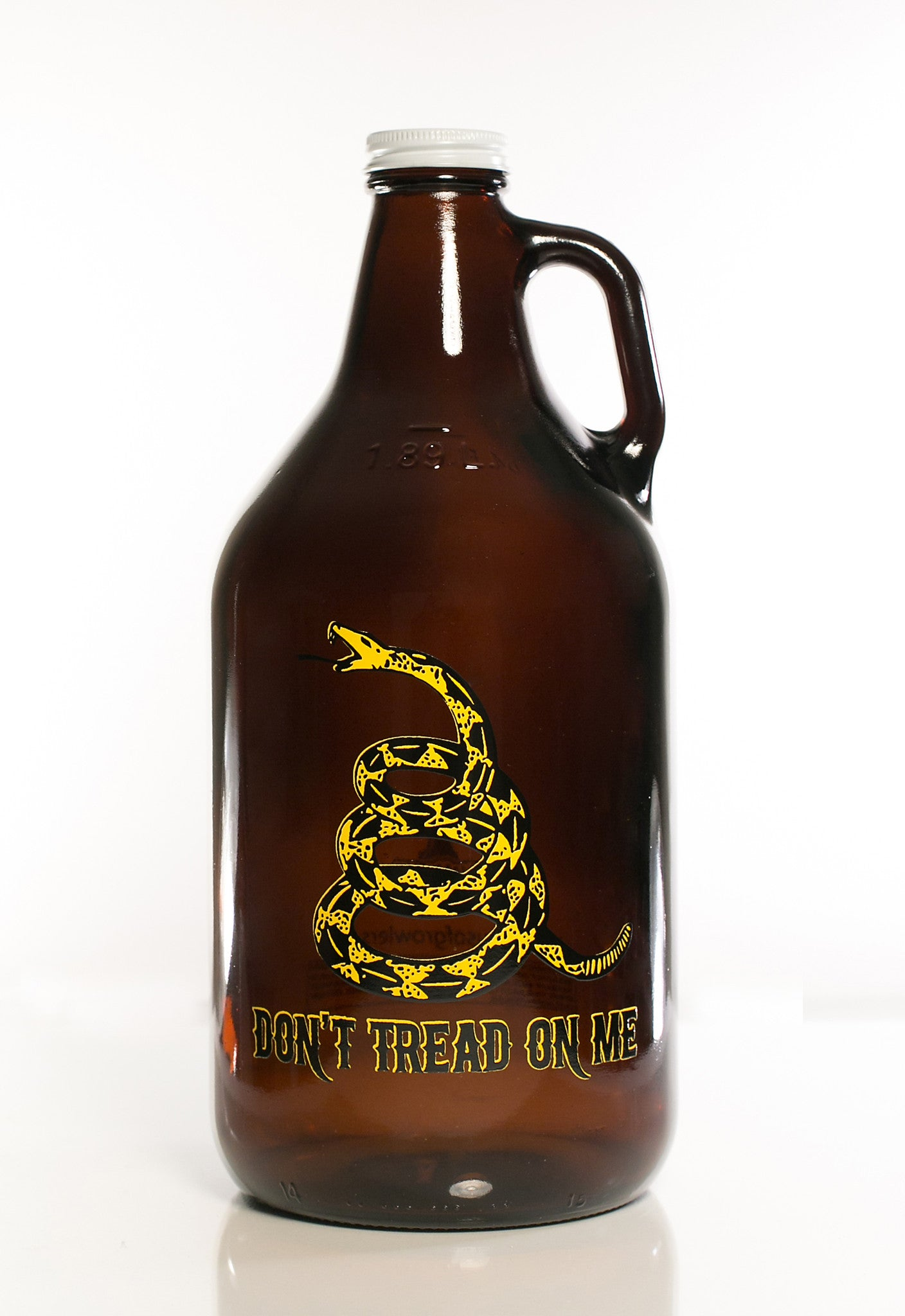64 oz. Don't Tread On Me Growler - Haüs Of Growlers