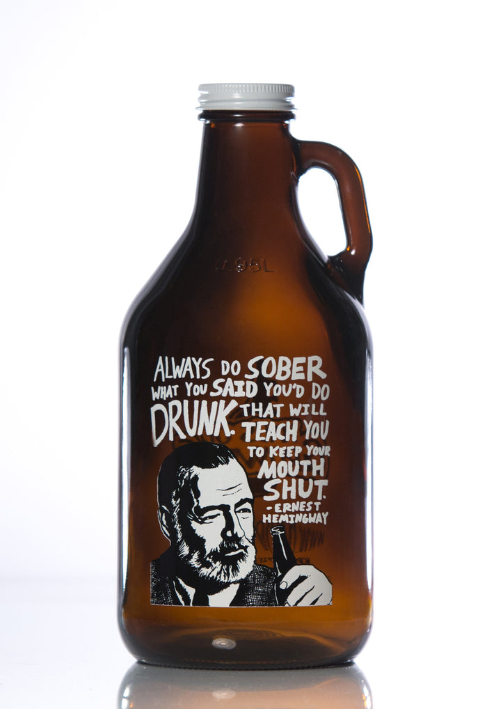 32 oz. Ernest Hemingway Growler - Haüs Of Growlers