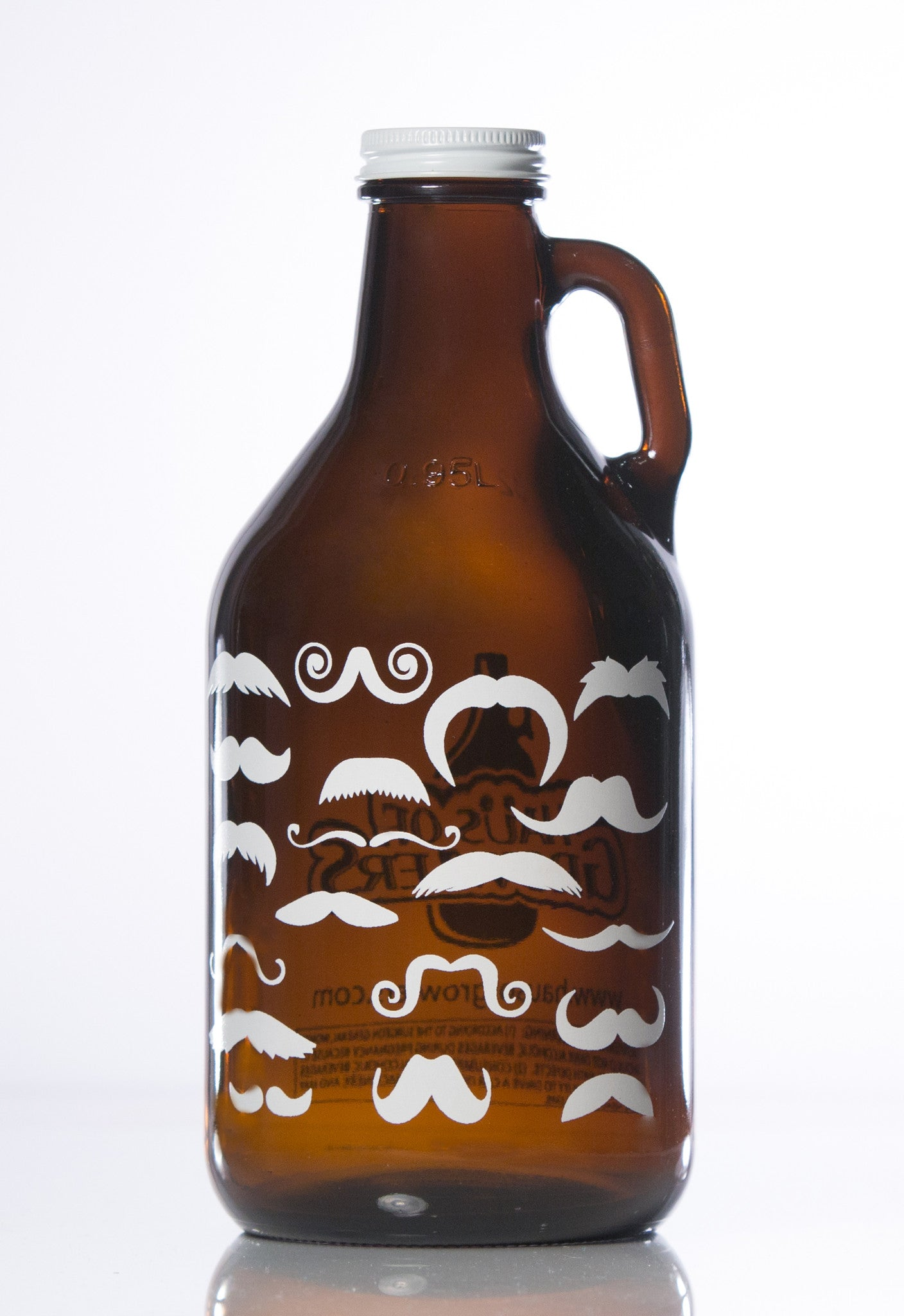 32 oz. Many A Stache Growler - Haüs Of Growlers