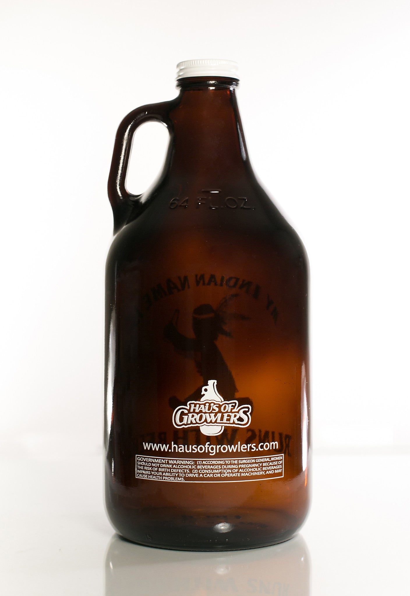 64 oz. Indian Name Growler - Haüs Of Growlers
