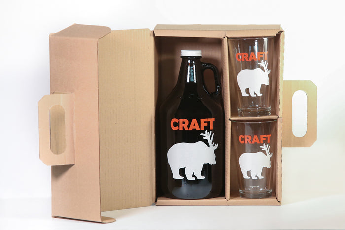 Craft Beer Growler/2 Pint Combo