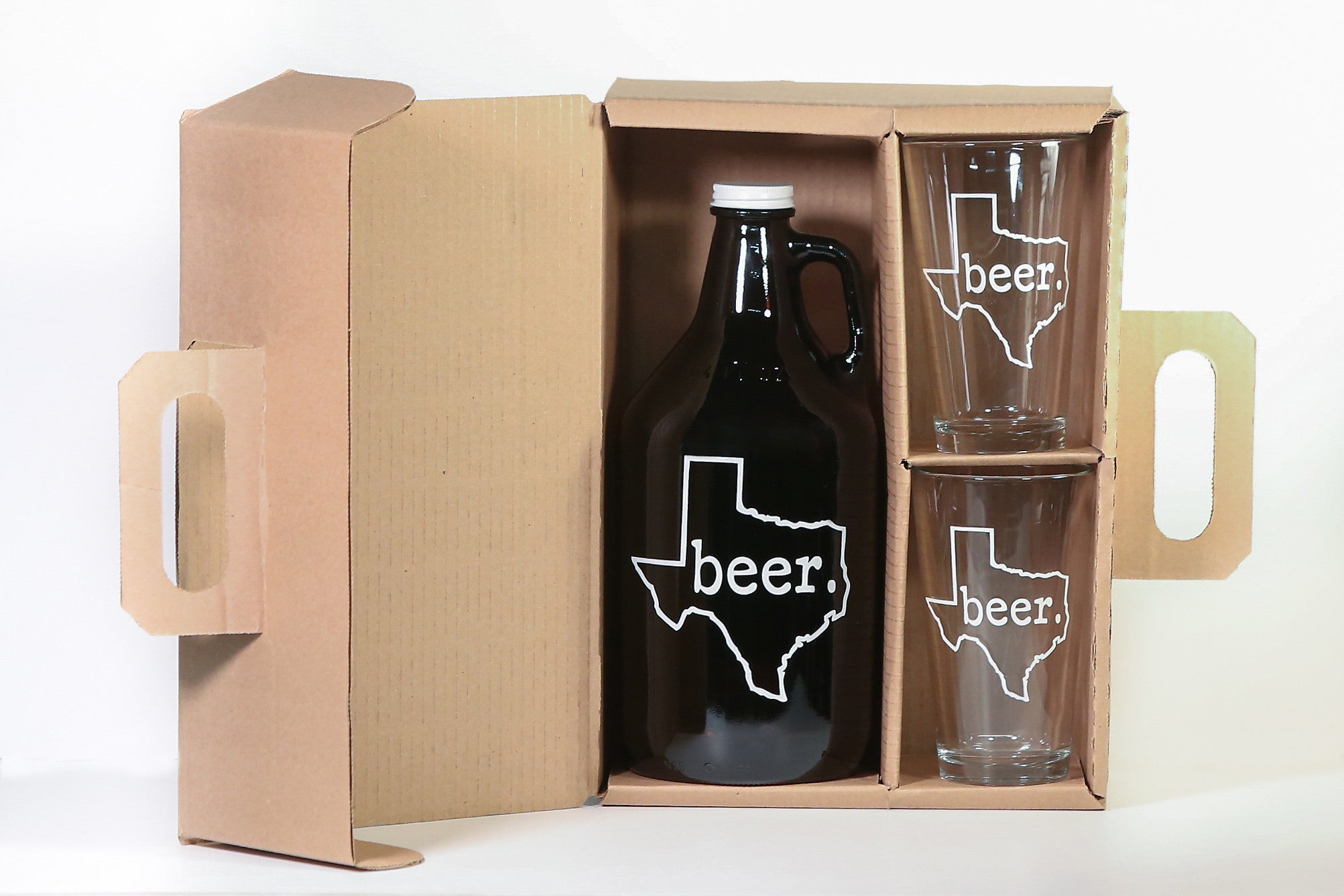 Texas Beer Growler/2 Pint Combo