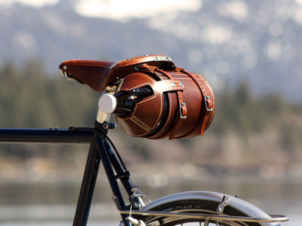 Hand Crafted, Bike Mounted, Leather Growler Carrier - Haüs Of Growlers