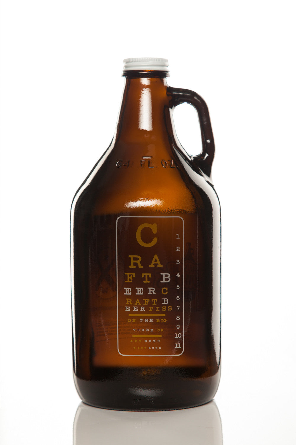 64 oz. Eye Chart Growler - Haüs Of Growlers