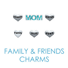 Family Floating Locket Memory Charms