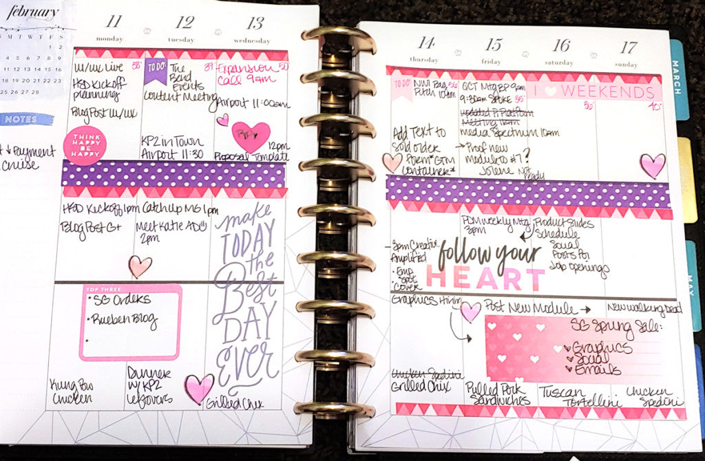 February 11th Weekly Planner Spread