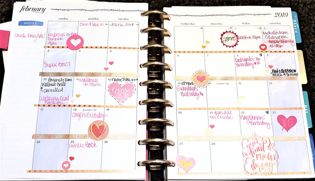 February 2019 Happy Planner Monthly Spread