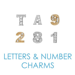 Letters and Numbers Floating Locket Charms