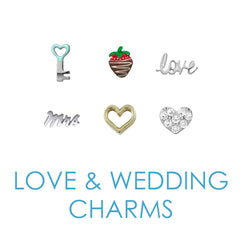 Love and Wedding Floating Locket Charms
