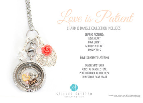 Love is Patient Floating Locket Charm and Dangle Collection