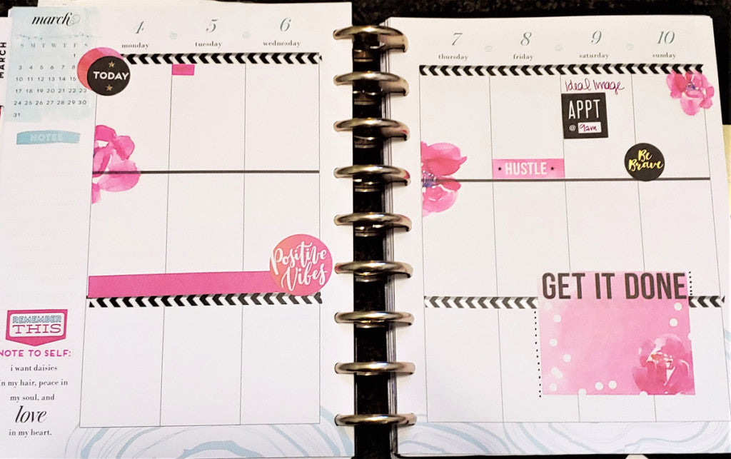 First week of March Planner Spread version 1 - simple