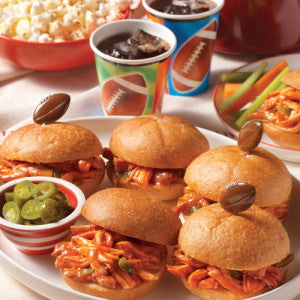 Slow Cooker Pulled Chicken Sandwiches