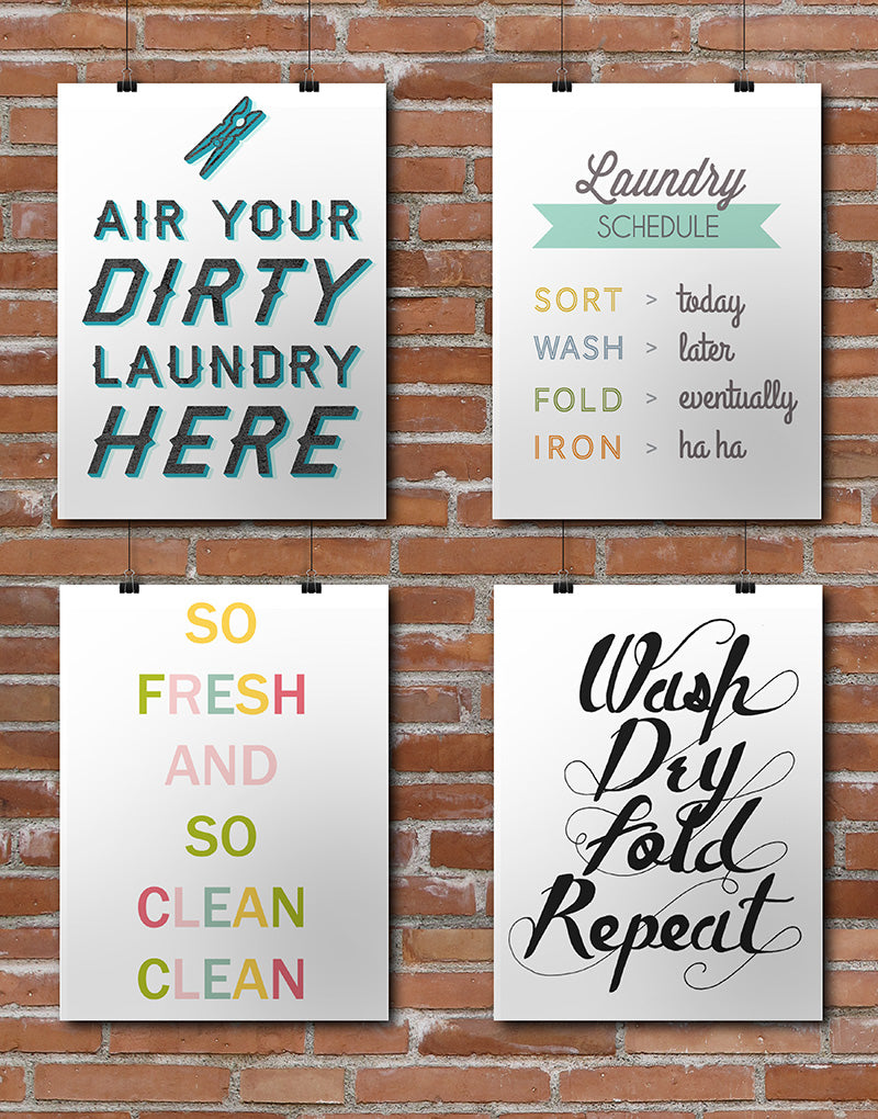 Laundry Printables Roundup compiled by Little Gold Pixel