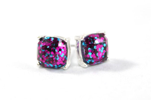 Showstopper 8mm Glitter Stud Earrings and Necklace Set