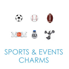 Sports Floating Memory Locket Charms