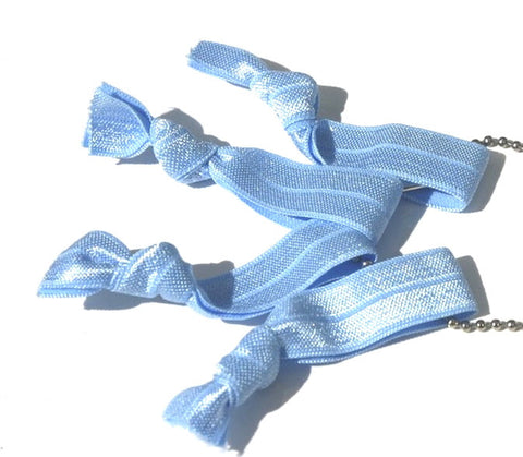 Ice blue - New Zealand Hand-made hair ties and headbands