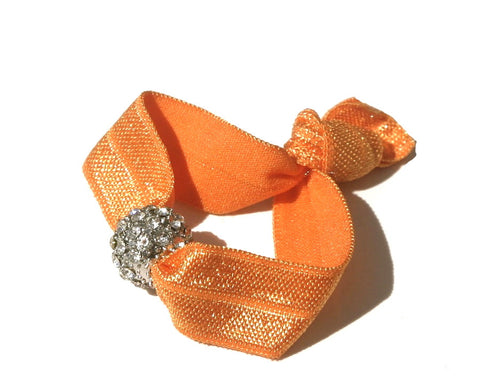 Tangerine Tickle - New Zealand Hand-made hair ties and headbands