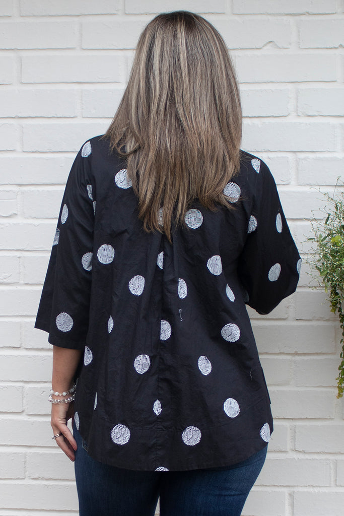 Alice Tunic - Black Thumbprint by Tulip Clothing