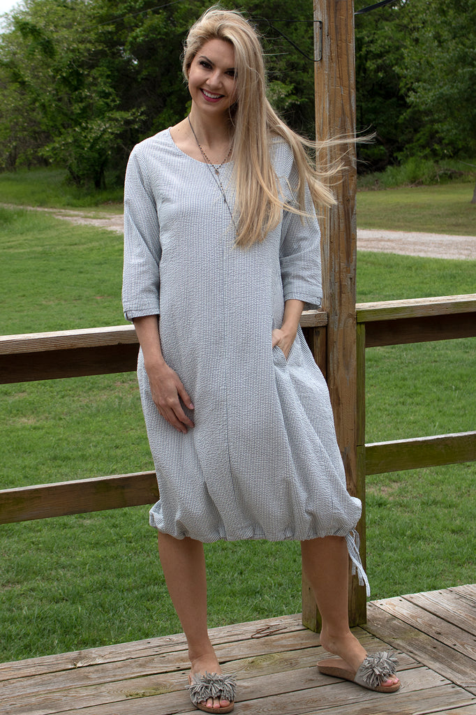 Allie Dress - Wave Stripe by Tulip Clothing
