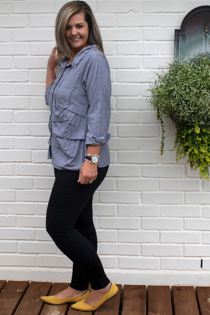 Billows Shirt - Vanderbilt Stipe by Tulip Clothing