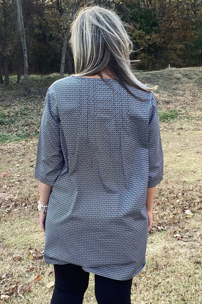 Brittany Tunic - Black by Apparel Garden