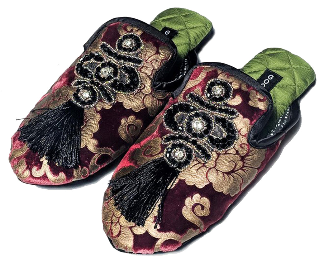 Crimson Slippers by Goody Goody, Clothing, Goody Goody- Apparel Garden